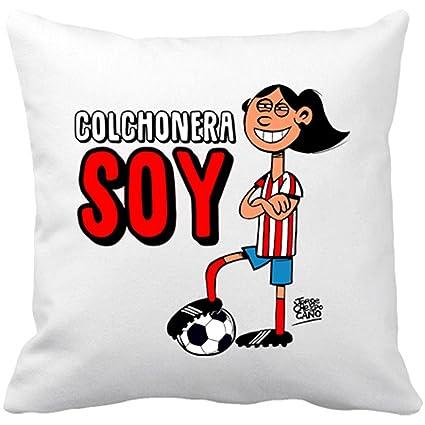 Cojín con relleno Atlético de Madrid Colchonera soy morena ...