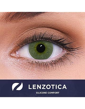1f0b21fe27 Cubriendo con fuerza las lentes de contacto verdes naturales  coloreadas
