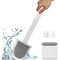 Ayxnzjsjm toiletborstel, siliconen toiletborstel en houder, badkamer toiletborstelhouder set, sneldrogend rek, wand…