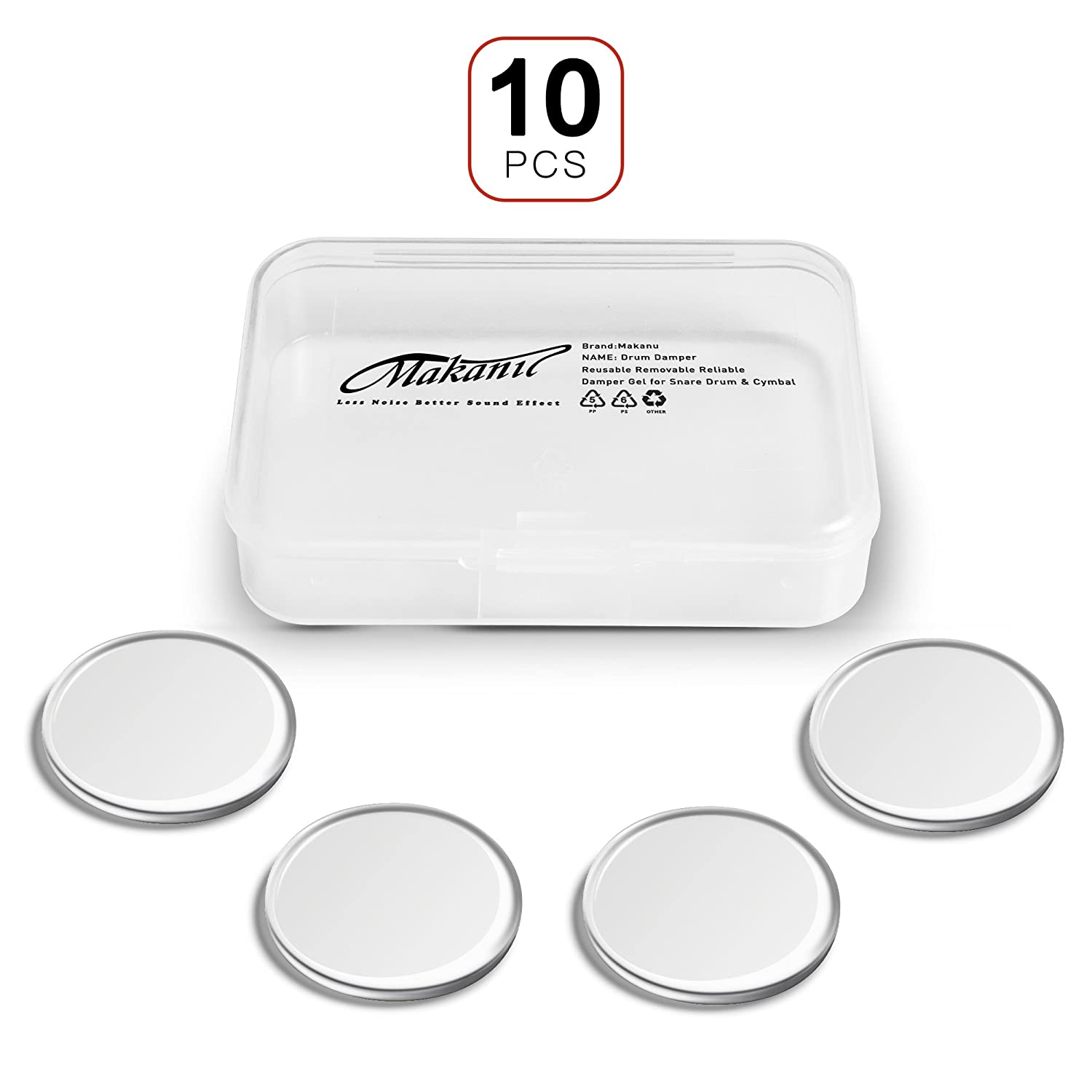 makanu Drum Dampeners 12 Pieces clear damper gel pads Non-toxic soft drum damper Tone Control for your drum