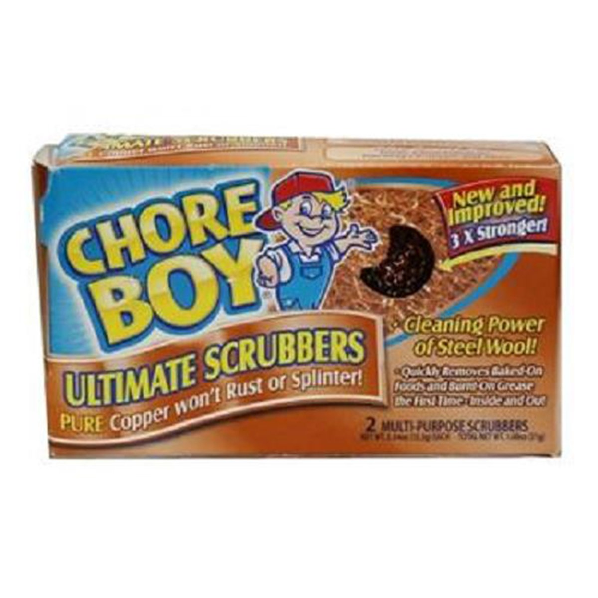 Product Of Chore Boy, Copper Scrubbers - Box, Count 36 - Sponges & Cleaning Pads / Grab Varieties & Flavors