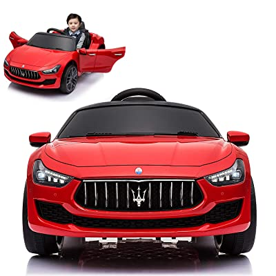 Maserati Ghibli Electric Ride On Car with Remote Control for Kids | 12V Power Battery Official Licensed Kid Car to Drive with 2.4G Radio Parental Control Opening Doors Red: Toys & Games