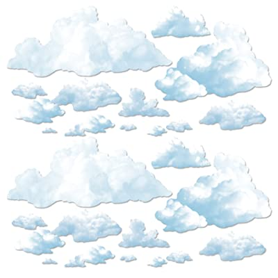 "Beistle 52067 Printed Cloud Props, 3.75"" - 39.75"", Pack of 24: Kitchen & Dining"