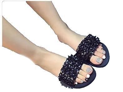 d7d0c4b481b Image Unavailable. Image not available for. Color  Kingwhisht 2018 Shoes  Woman Flats Flip Flops Wedges Sandals Fashion ...