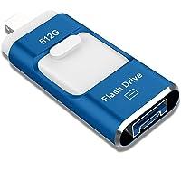 Sttarluk 512GB OTG USB 3.0 Photo Stick Flash Drive (Blue)