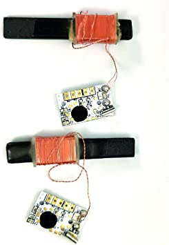 ALANO DCF77 77kHz NIST módulos de reloj controlado por radio, 30dB módulo receptor de reloj atómico de alta ganancia, antena de 100 mm de ...