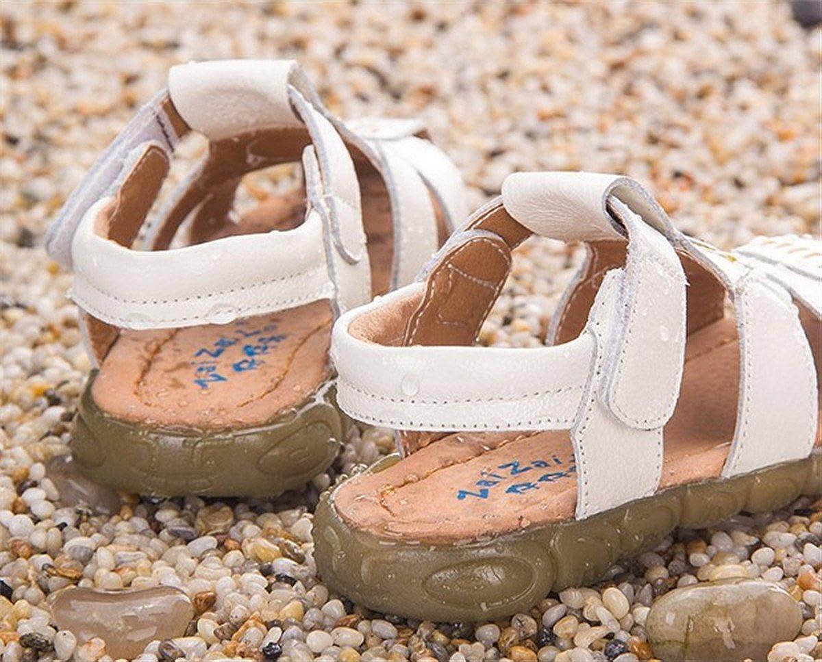 BININBOX Summer Breathable Sandals Girl Boys Toddler Kid Shoe Closed-Toe Clock