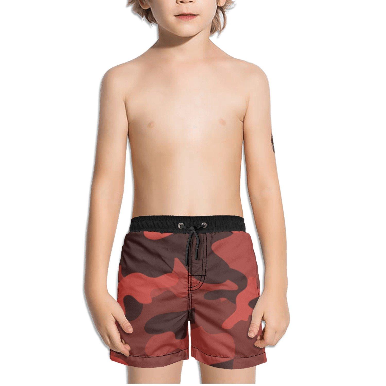 Ouxioaz Boys Swim Trunk Camouflage Camo Wallpaper Beach Board Shorts
