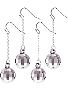 5f4ac0c4789ff Amazon.com: Silver Disco Ball Earrings: Jewelry