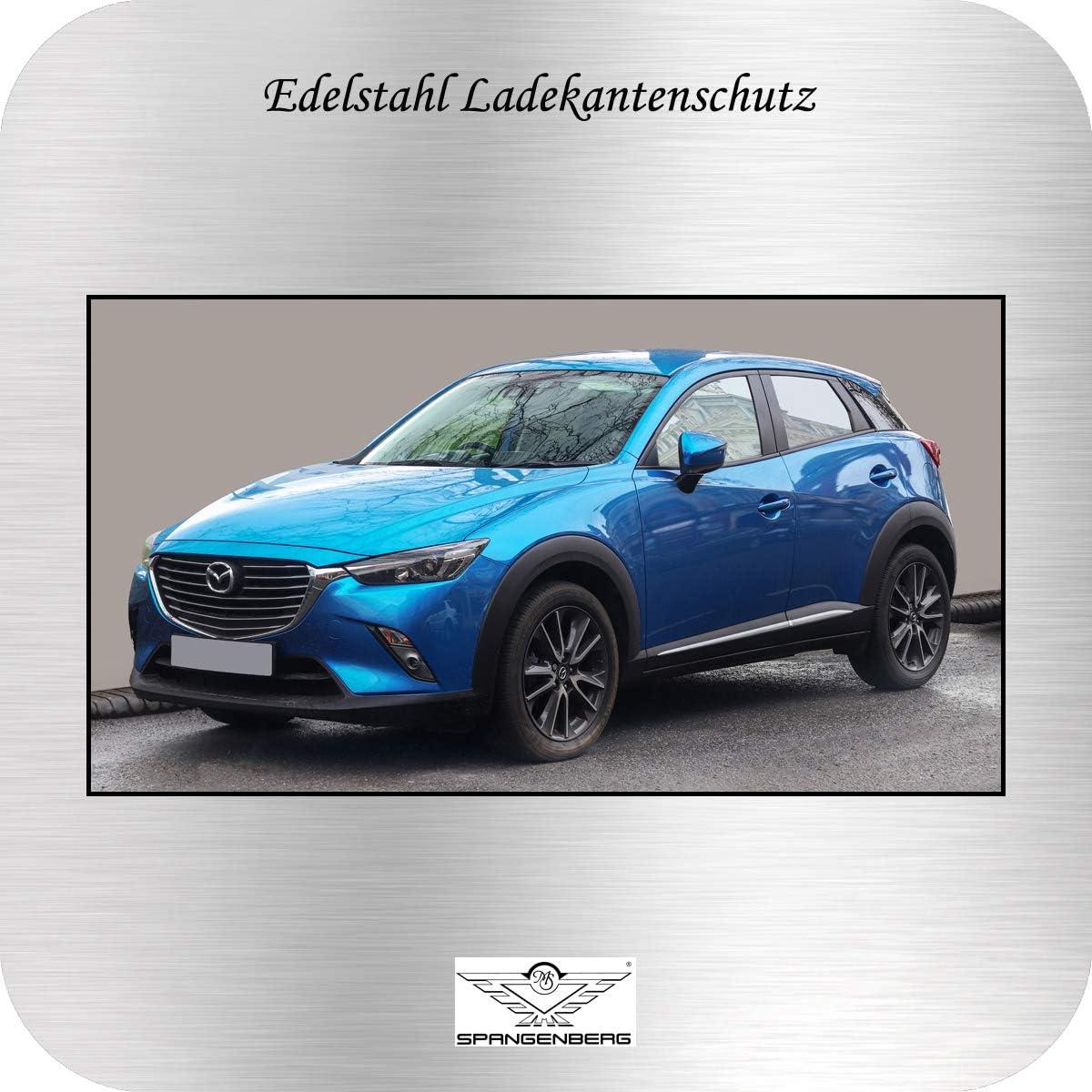 Spangenberg Ladekantenschutz Edelstahl passend f/ür Mazda CX-3 SUV Typ DK ab Baujahr 05.2015-3235472