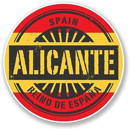 2 x 10cm/100 mm Alicante ESPAÑA Etiqueta autoadhesiva de vinilo ...