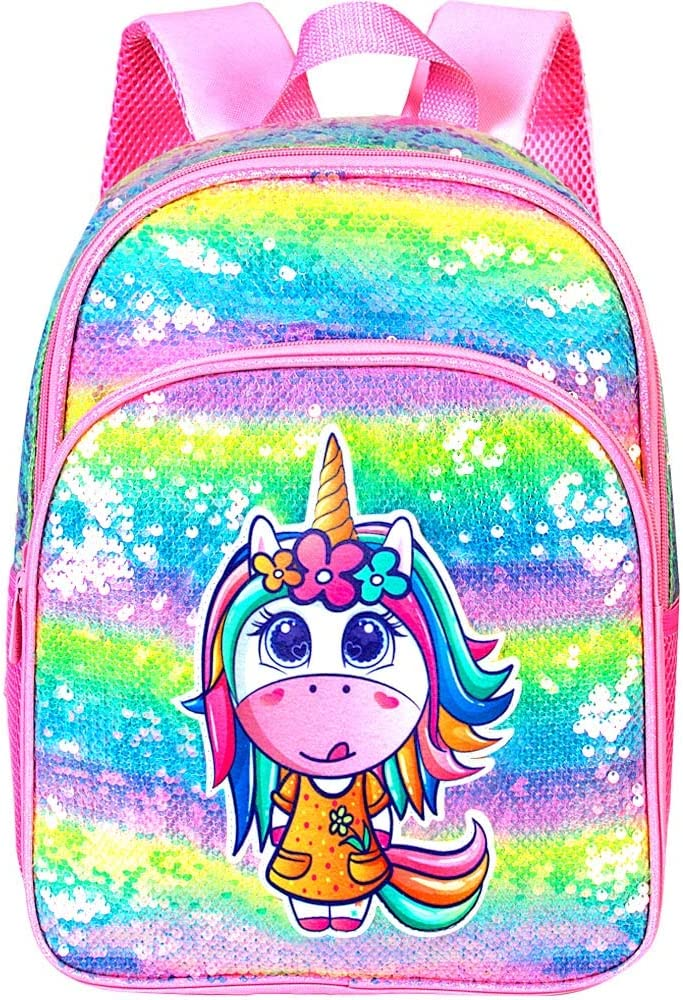 "Preschool Backpack 14.5/"" Space Backpack for Boys Glitter"