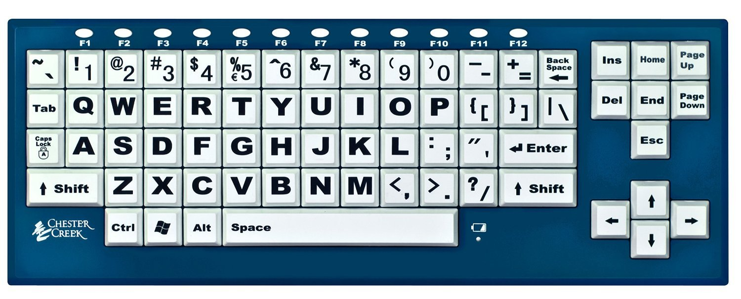 Chester Creek BigBlu™ VisionBoard with Bluetooth Large Keys with Large Print Letters Keyboard