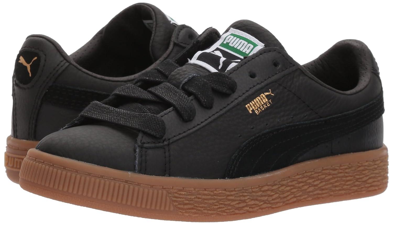 sports shoes 63aaf f0219 Amazon.com   PUMA Basket Classic Gum Deluxe Kids Sneaker   Sneakers