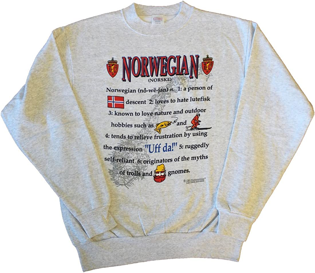Amazon Com Flagline Norway Nationality Definition Sweatshirt Clothing