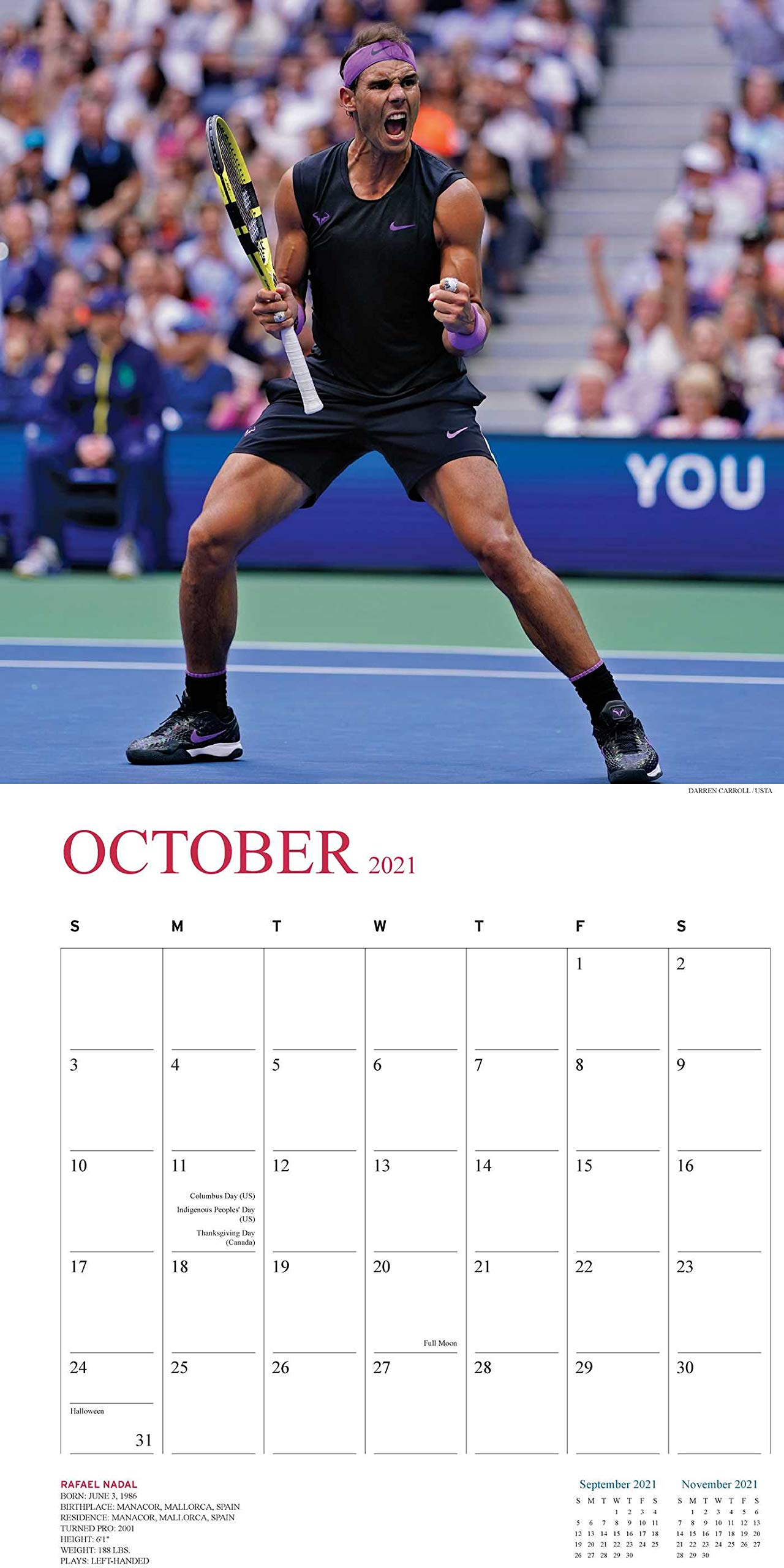 Calendrier Tennis 2021 Tennis 2021 Calendar: The Official U.s. Open Calendar: Amazon.fr