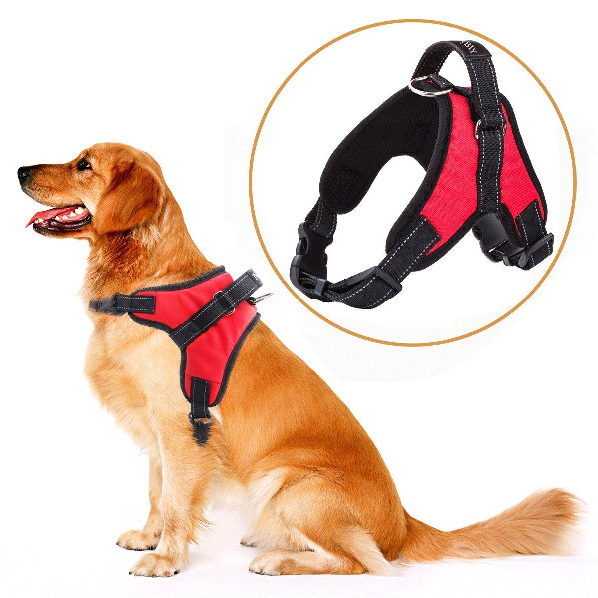 Negro, L MerryBIY Arn/és del Animal Dom/éstico Pet Harness Perro Collar Chaleco para Mascotas en el Pecho Correas con la Manija Accesorio Cuerda Lo Mejor para Pasear