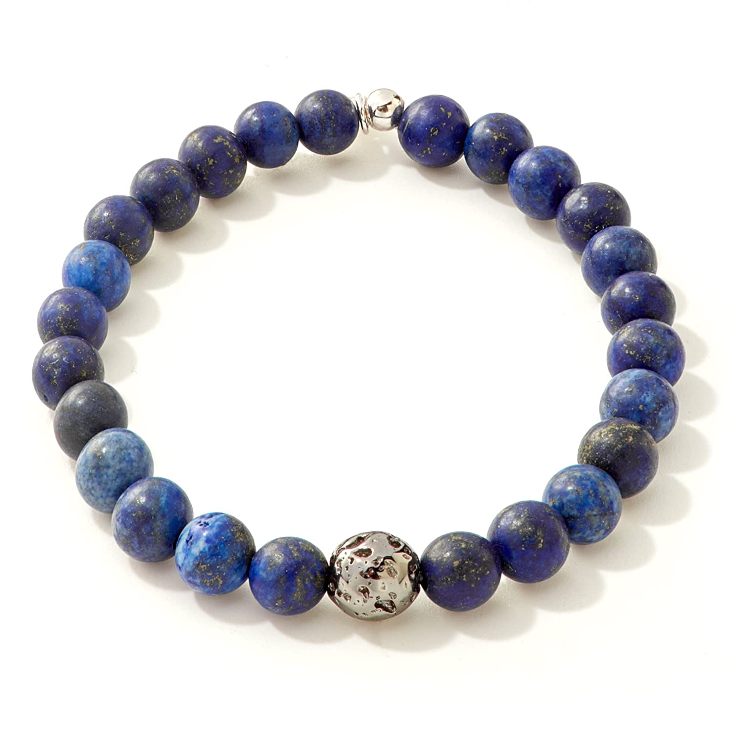 Tateossian Asteroid Matte Beaded Bracelet Blue - Medium 6.8 Inches BL7328