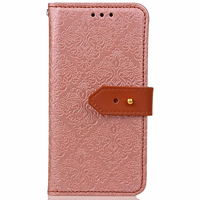 Galaxy A5 2017 Case Samsung A5 2017 Cover EMAXELER Stylish Wallet Kickstand Flip Case Credit Cards Slot Cash Pockets Embossing PU Leather Flip Wallet ...