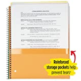 """Five Star Spiral Notebook, 1 Subject, College Ruled Paper, 100 Sheets, 11"""" x 8-1/2"""", Green"""