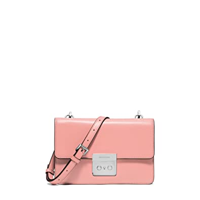 659f98dfad03 Michael Kors Sloan Flap Small Gusset Leather Crossbody in Pale Pink   Amazon.co.uk  Shoes   Bags
