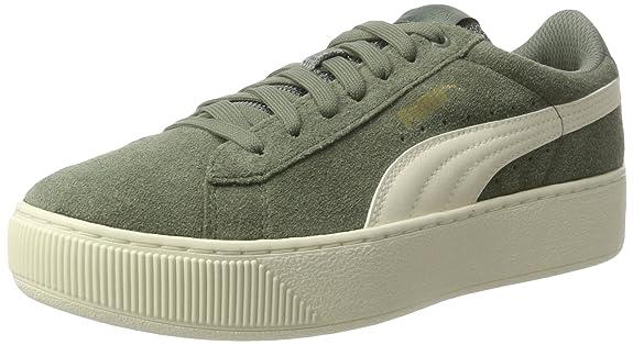Puma Damen Vikky Platform D Sneaker, Grün (Agave Green-Metallic Gold-Whisper White), 40 EU