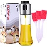 VEHHE Oil Sprayer for Cooking, Olive Oil Spray Bottle Dispenser 180ml/6 fl oz with 3pcs Silicone Brushes for Cooking…