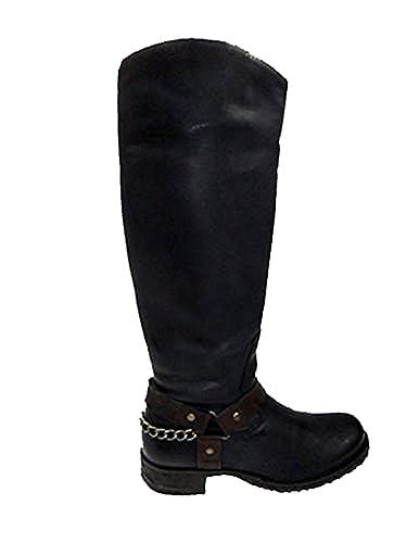 Boots Mexico 30503 Damen Leder 60 Buffalo Stiefel Azul Es Yb6yf7g