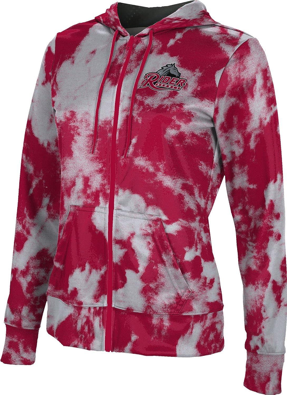 Rider University Girls Zipper Hoodie School Spirit Sweatshirt Grunge