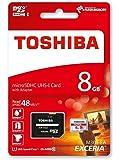 Toshiba Exceria M301 Carte mémoire microSDHC 8 Go (UHS-I, U1,Classe 10 - 2015 Version)