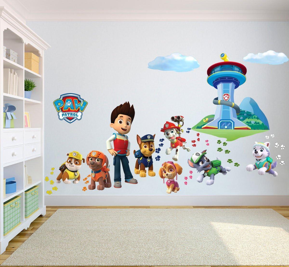 Paw Patrol thème 3D trou dans le mur B effet Autocollant Mural Art Décalcomanie Murale