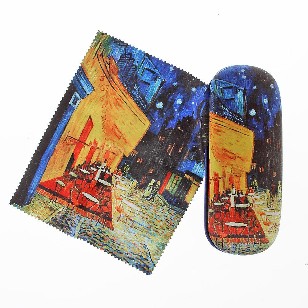 Occhiali Set Vincent van Gogh terrazza di un caffè dal punto di vista serata con suede Rivestimento in Artis Vivendi