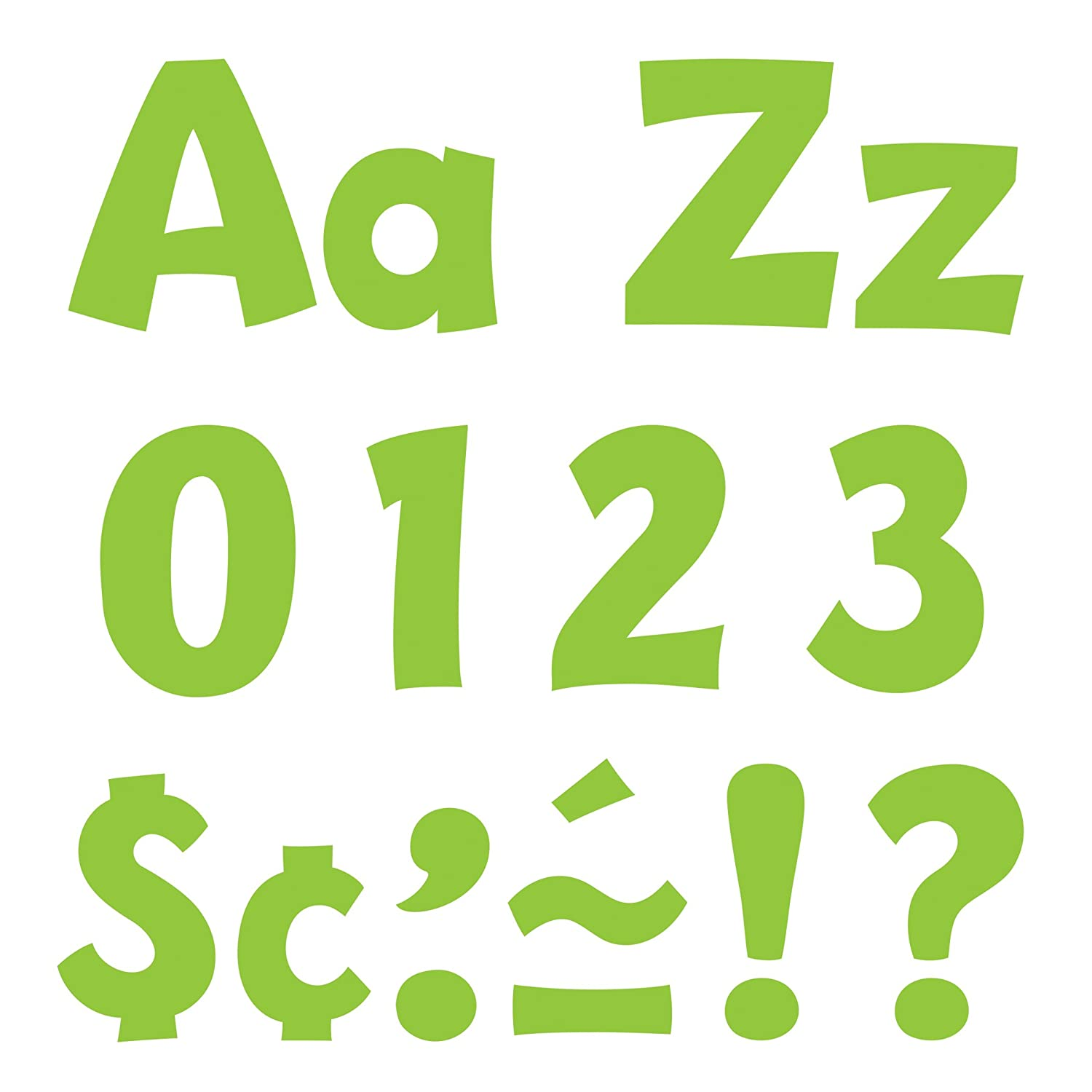 TREND enterprises, Inc. T-79767 Lime 4 Playful Combo Ready Letters