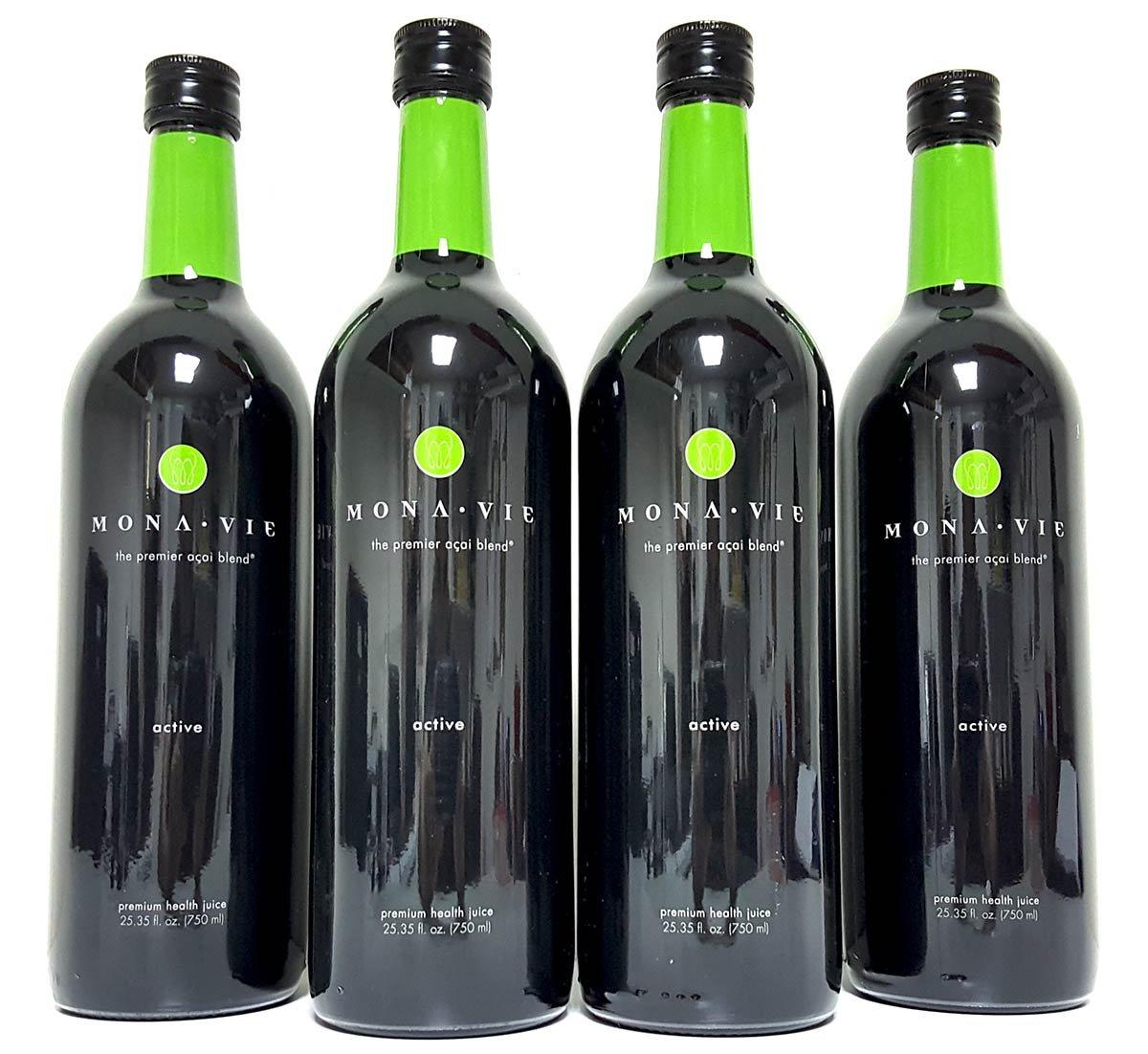MonaVie Active 4 Bottles (Case) FRESH