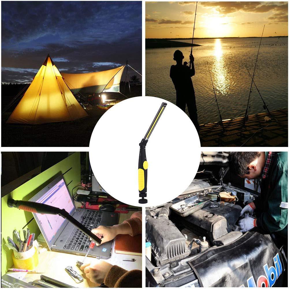 Luz de Trabajo Portatil Verde Linterna Trabajo LED Recargable USB Plegable y Rotaci/ón de 360 /° Linterna de Trabajo COB LED Recargable Iman Profesional para Casa Auto Camping Emergencia Reparacion