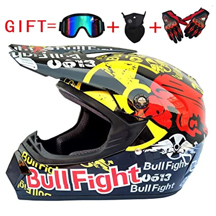 Wansheng Adulto Motocross Casco MX Moto Casco ATV Scooter ATV Casco Carretera Racing D. O. T Certificado