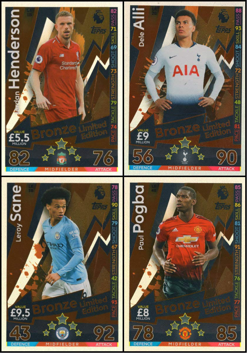 MATCH ATTAX 2018/19 All Four (4) Tarjetas de edición ...