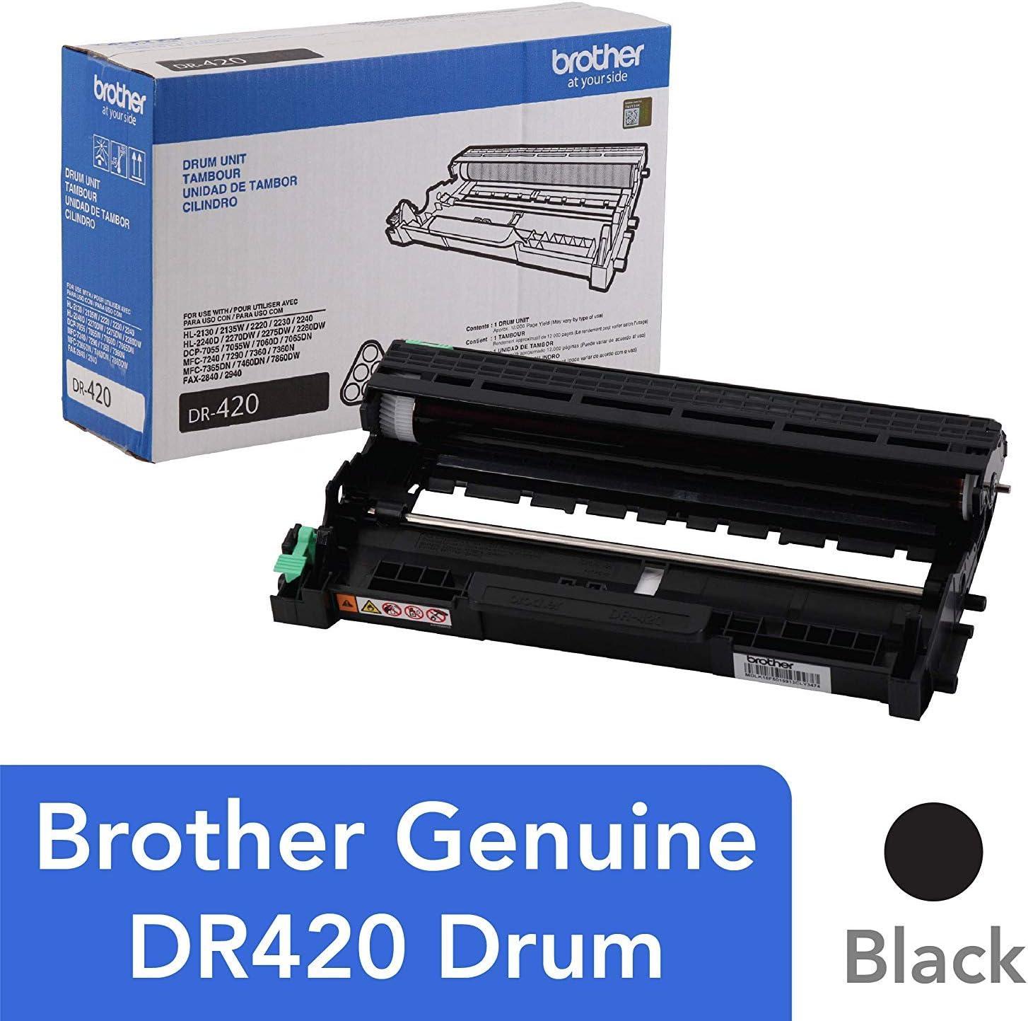 Starink DR-420 Compatible Drum Unit Brother DR420 Black 1 Pack, Drum Unit, 12000 Pages ,Replacement for HL-2270DW HL-2280DW MFC-7860DW DCP-7065DN MFC-7360N HL-2230 HL-2240 MFC-7460DN