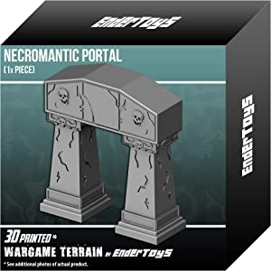 EnderToys Necromantic Portal, 3D Printed Tabletop RPG Scenery and Wargame Terrain for 28mm Miniatures
