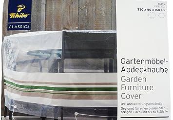 Tchibo Gartenmöbel Abdeckhaube Schutzhülle Ovaler Tisch U0026 6 Stühle 230 X 80  X 160