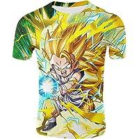 Camiseta Dragon Ball Niño 3D Impresión Unisex Hombres Camisetas y Camisas Deportivas Camisetas de Manga Corta T Shirt…