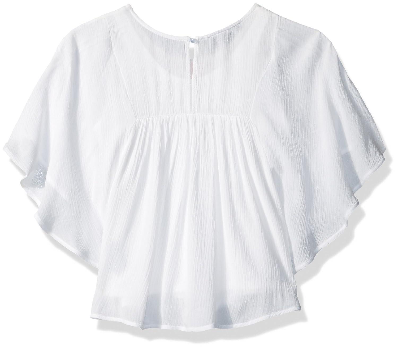 Amy Byer Girls Big 3//4 Sleeve Poncho Top