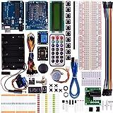 Kuman más nuevos súper aprendizaje del Kit de iniciación para Arduino AVR MCU que aprende Con módulo de sensor de LCD Uno R3 moto hasta 35 componentes K23