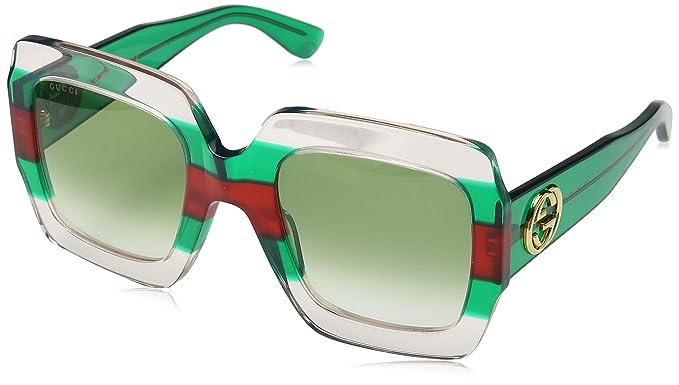 Gucci GG0178S 001 Gafas de sol, Multicolor (1/Green), 54 para Mujer