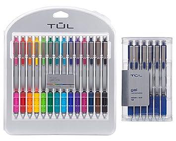 TUL Retractable Gel Pens 0.7 mm Medium Point, Assorted 4/pk