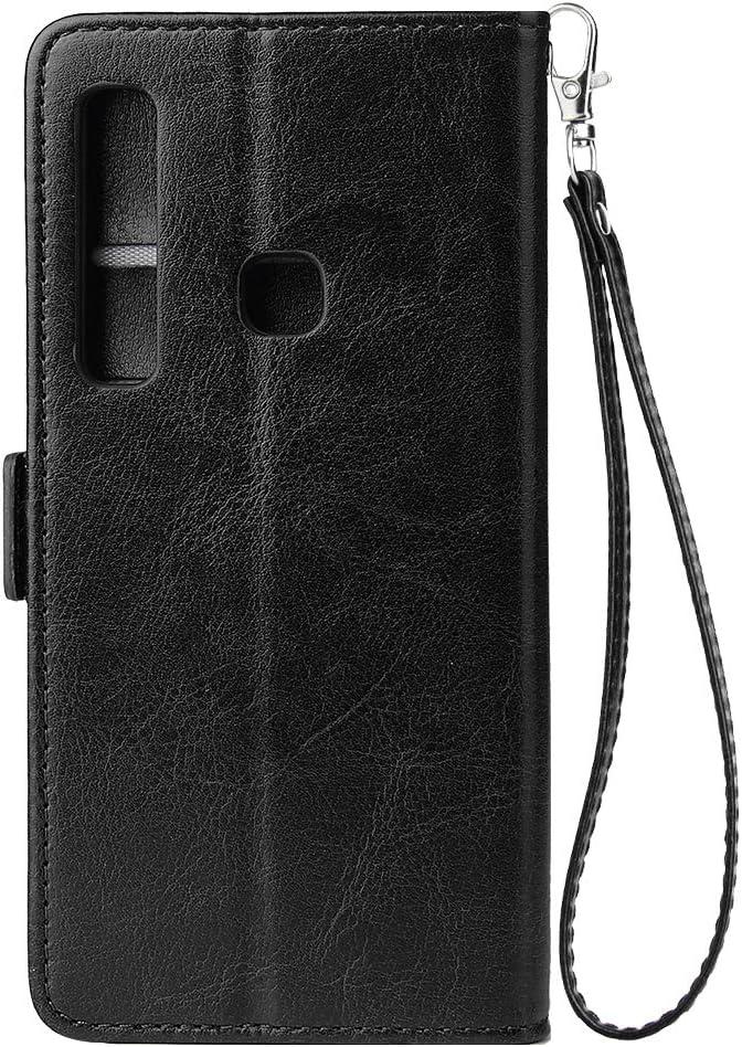 WIWJ Kompatibel mit Samsung Galaxy A9 2018 H/ülle Rei/ßverschluss Lederh/ülle Wallet Handyh/ülle Klapph/ülle Ultra Slim Flip Case Stand Schutzh/ülle 360 Grad Bumper Tasche-Gold