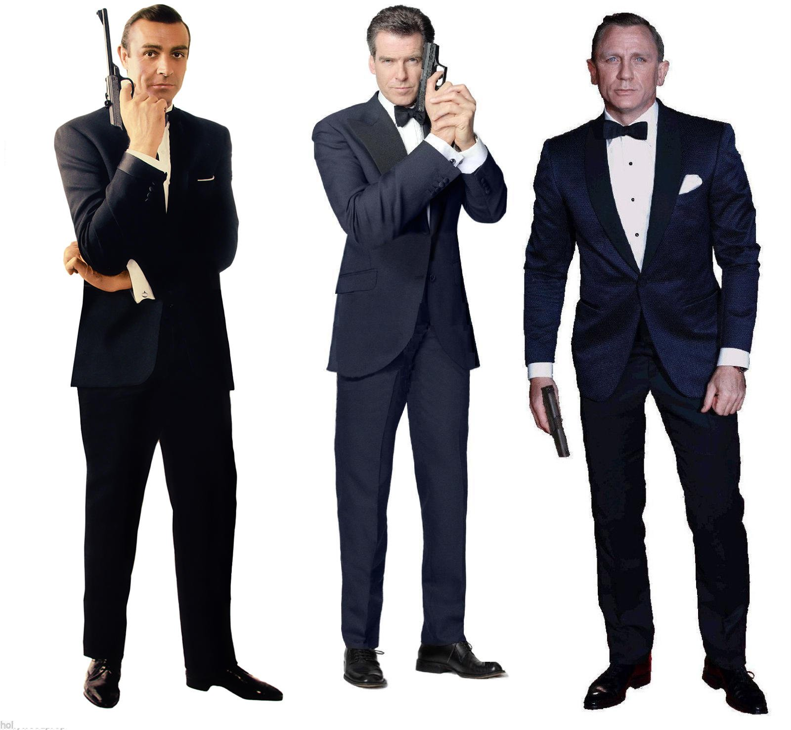 SEAN CONNERY PIERCE BROSNAN DANIEL CRAIG JAMES BOND 007 LIFESIZE CARDBOARD STANDUP STANDEE CUTOUT POSTER SET OF THREE by Hollywoodprop