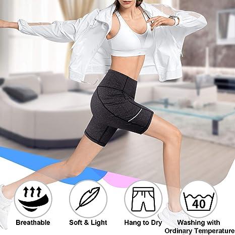 Chic central Femme minceur taille haute YOGA Running Leggings Avec Poche Latérale