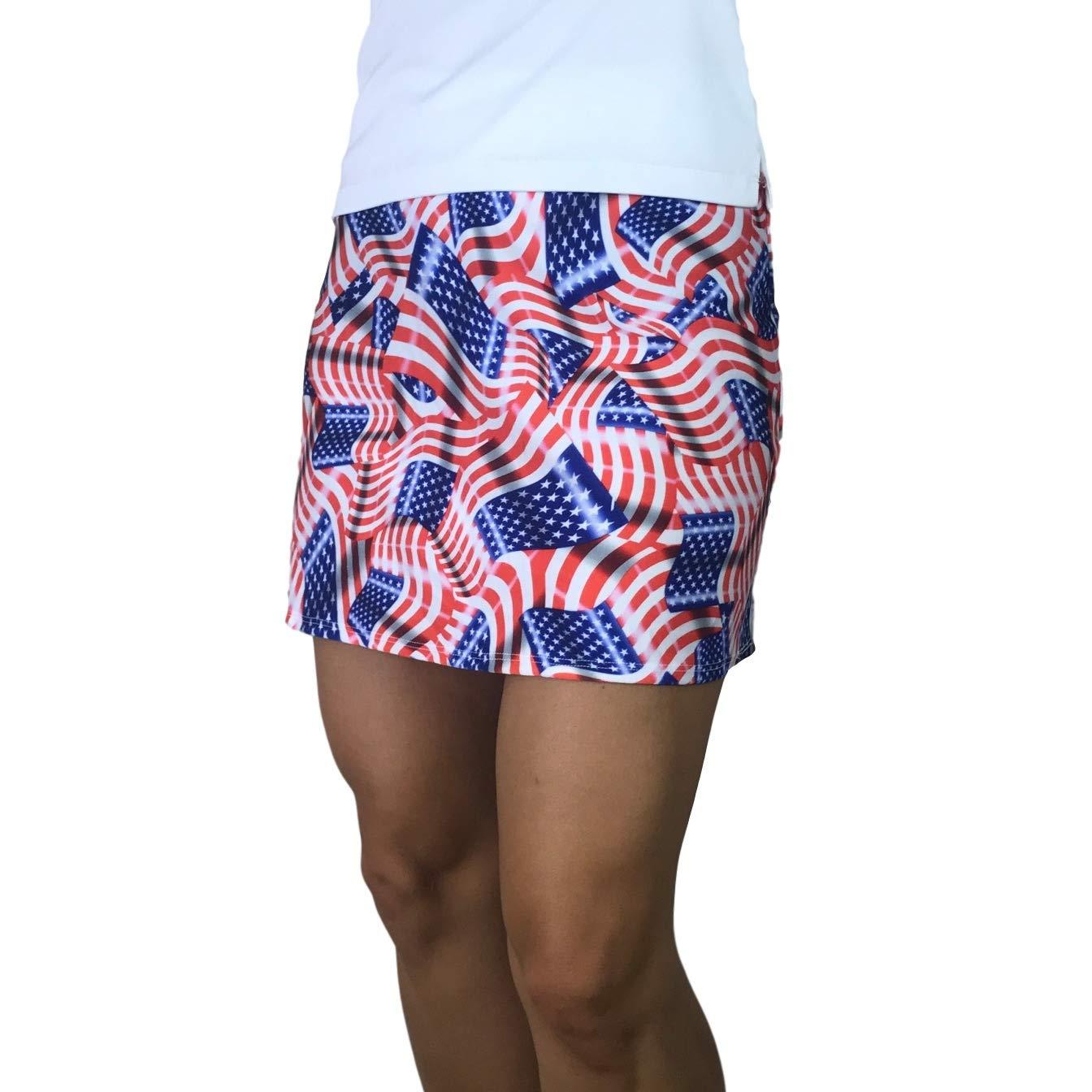 Smash Dandy American Flag Slim Style Skort
