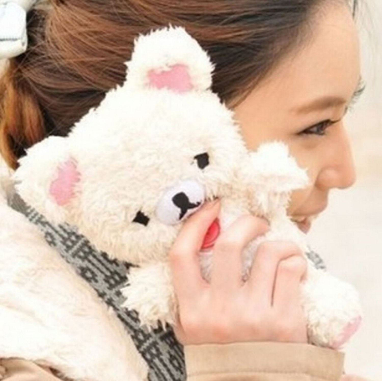 Amazon.com: Iphone 7 Case,iPhone 8 Case,Emilys fashion style New Cute 3D Lovely Teddy Bear Doll Toy Cool Plush Fitted Back Phone case Cover for Iphone 7 ...